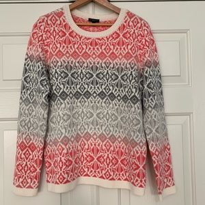 Talbots ombré fair isle sweater - petite Medium